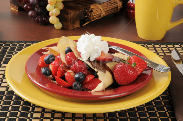 Stok fotoğraf: Taze · çilek · yaban · mersini · gıda · meyve · tatlı