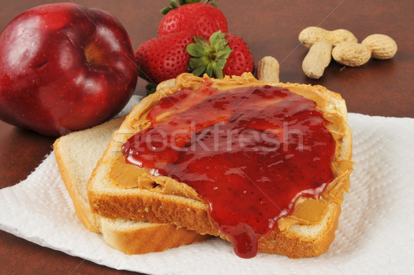 Stock photo: Peanut butter and jelly