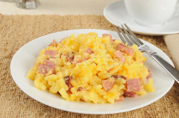 Diced ham and au gratin potatoes Stock photo © MSPhotographic