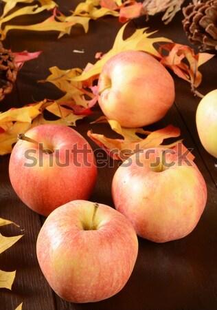 Oogst appels gala rustiek houten tafel Stockfoto © MSPhotographic
