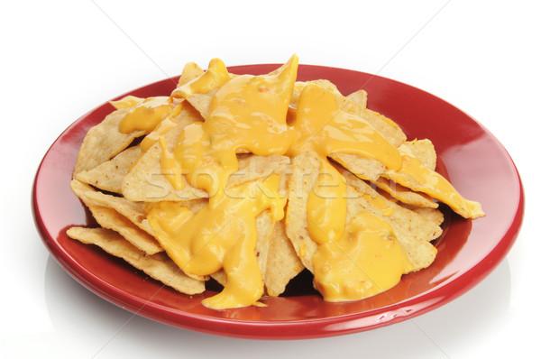 Tortilla chips queso maíz salsa blanco Foto stock © MSPhotographic