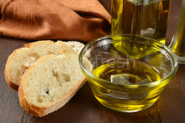 French bread and olive oil Stock photo © MSPhotographic