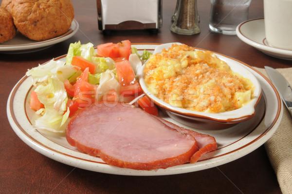 Ham dinner with potato casserole Stock photo © MSPhotographic
