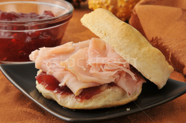 Törökország szendvics keksz friss sült étel Stock fotó © MSPhotographic
