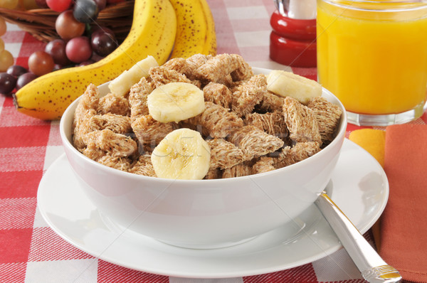 Shredded organic wheat breakfast cereal Stock photo © MSPhotographic