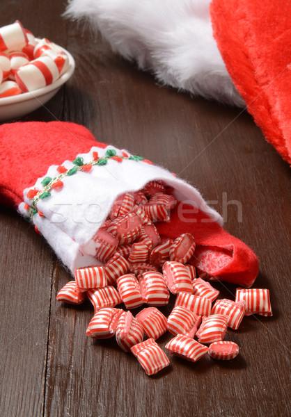 Hortelã-pimenta doce natal lotação Foto stock © MSPhotographic