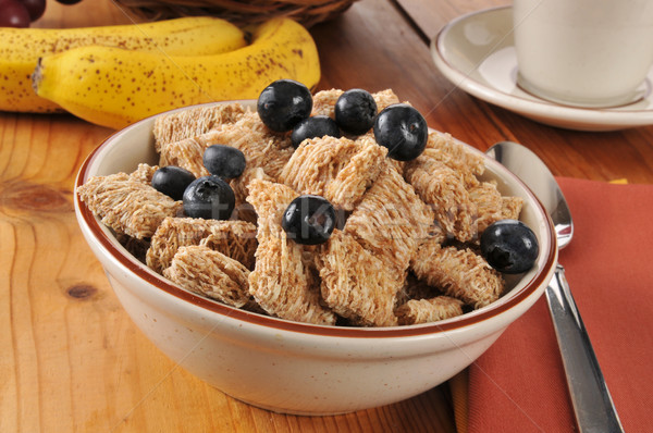 Whole wheat cereal with blueberries Stock photo © MSPhotographic
