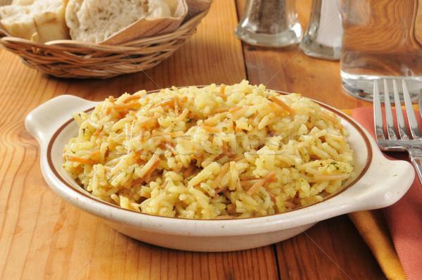 Chicken flavored rice Stock photo © MSPhotographic