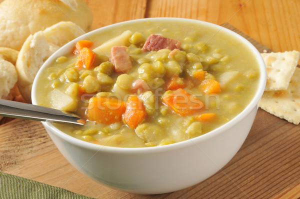 Split pea soup Stock photo © MSPhotographic