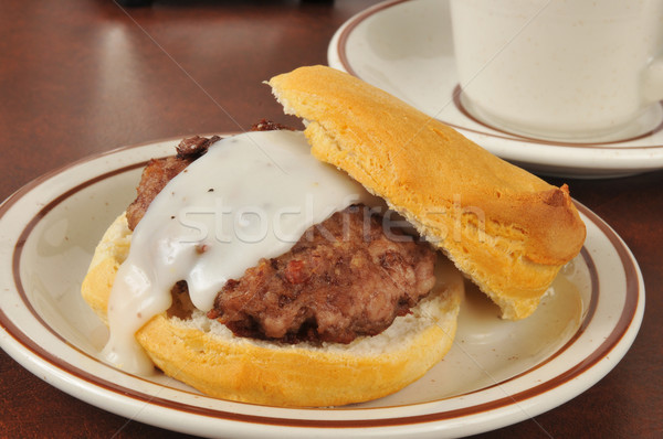 Sausage and biscuits with gravy Stock photo © MSPhotographic