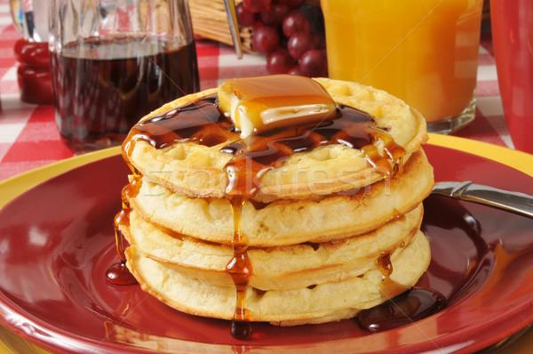 Buttermilk waffles Stock photo © MSPhotographic