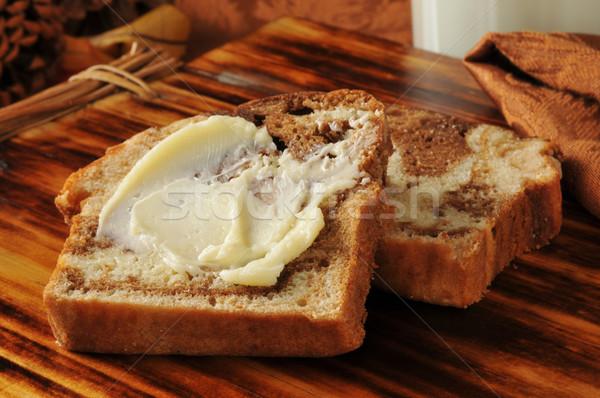 Buttered cinnamon swirl bread Stock photo © MSPhotographic