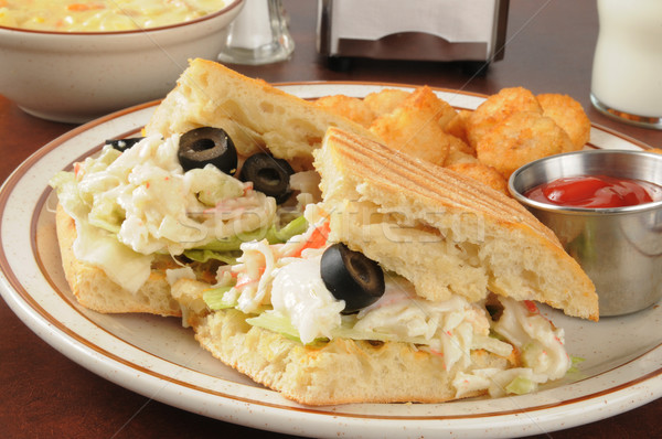 Seafood sandwich and soup Stock photo © MSPhotographic