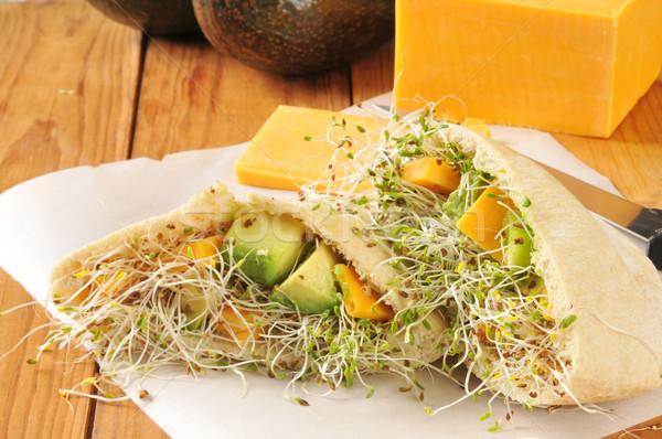 Veggie Pita Sandwich Stock photo © MSPhotographic