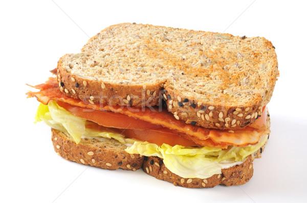 Blt sanduíche inteiro grão semente pão Foto stock © MSPhotographic