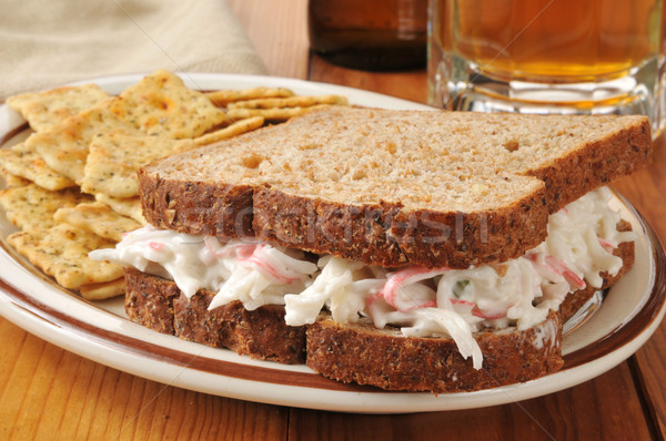 Crab sandwich Stock photo © MSPhotographic