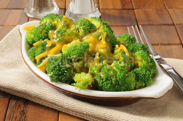 Brokoli peynir çanak çedar Stok fotoğraf © MSPhotographic