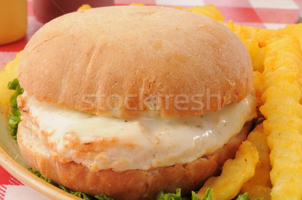 Chicken sandwich close up Stock photo © MSPhotographic