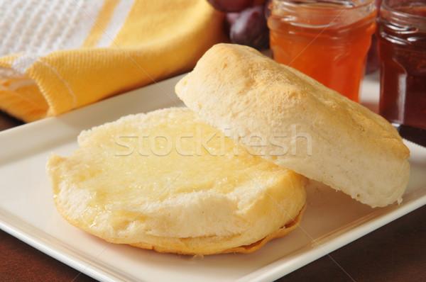 Hot buttermilk biscuit Stock photo © MSPhotographic