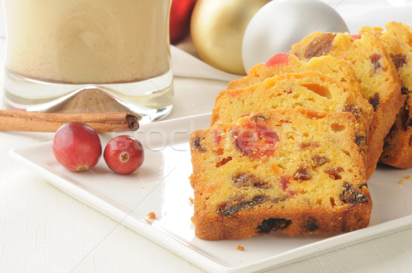Traditioneel christmas fruitcake ei kaneel Stockfoto © MSPhotographic