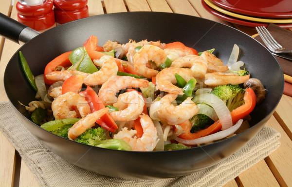 Shrimp stir fry Stock photo © MSPhotographic