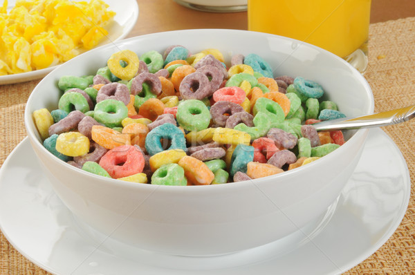 Fruit flavored cereal Stock photo © MSPhotographic