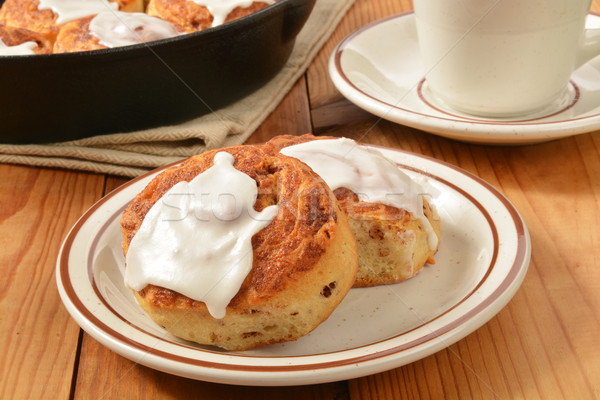 Cinnamon roll with frosting Stock photo © MSPhotographic