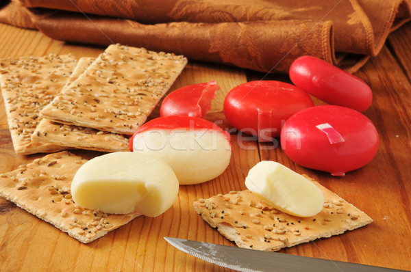 White cheddar cheese and crackers Stock photo © MSPhotographic