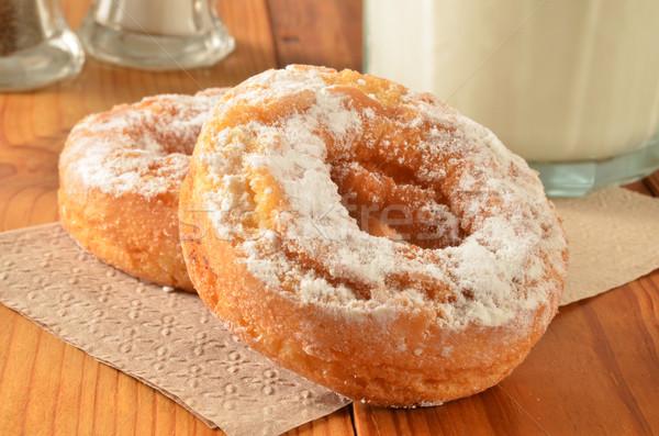 Cake donuts and milk Stock photo © MSPhotographic