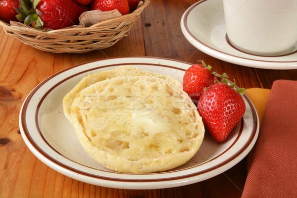 焼いた 英語 マフィン 新鮮な イチゴ 食品 ストックフォト © MSPhotographic