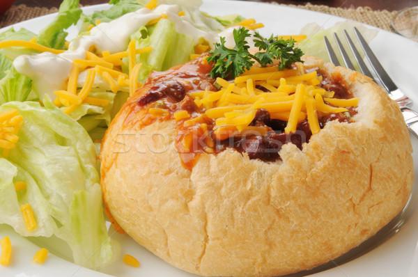 Chili in a bread bowl Stock photo © MSPhotographic