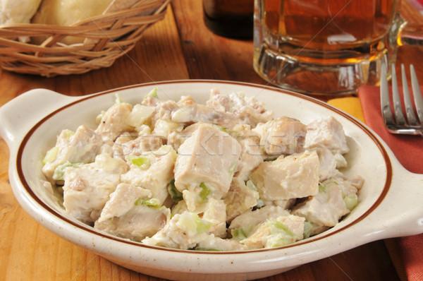 Salada de frango cerveja tigela naturalismo caneca Foto stock © MSPhotographic