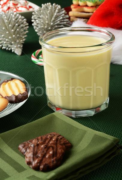 Christmas egg nog and cookies Stock photo © MSPhotographic
