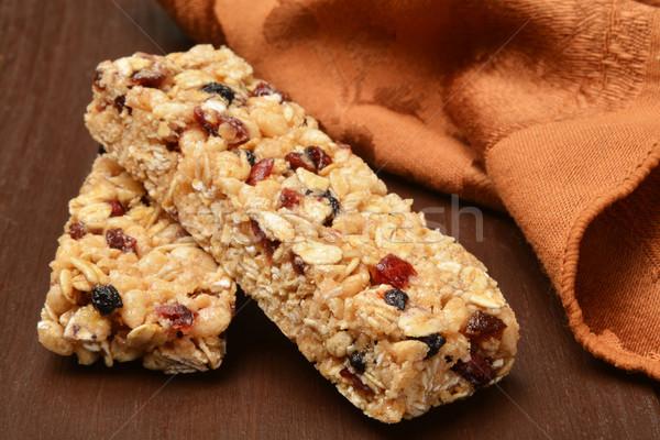 Egészséges granola rácsok gyümölcs dió Stock fotó © MSPhotographic