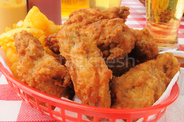 chicken wings and beer Stock photo © MSPhotographic
