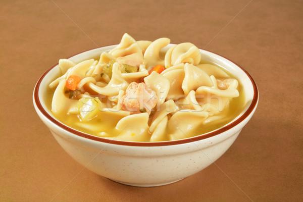 Stok fotoğraf: Tavuk · çorba · çanak · basit · ayarlamak