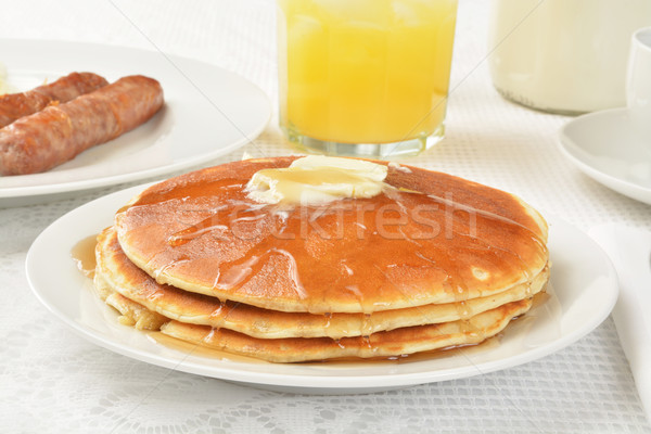 Hotcakes and syrup Stock photo © MSPhotographic