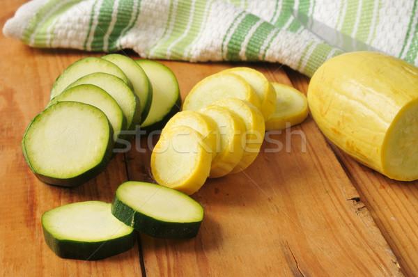 Verão abóbora abobrinha verde vegetal Foto stock © MSPhotographic