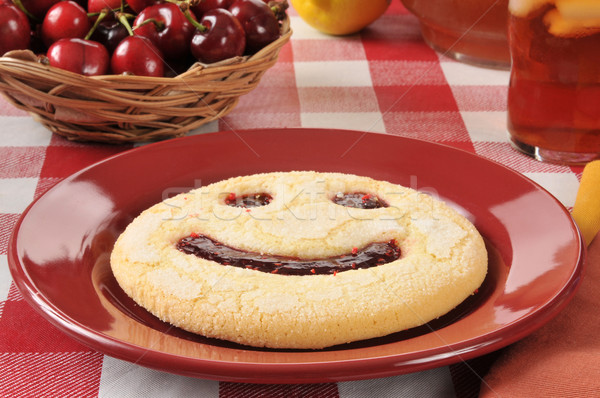 Smiley face cookie Stock photo © MSPhotographic