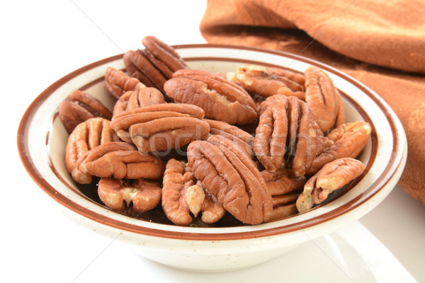 Bowl of pecans Stock photo © MSPhotographic