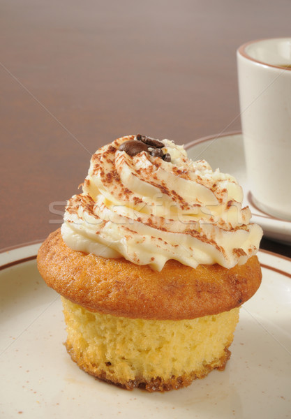 Tiramisu cupcake and coffee Stock photo © MSPhotographic
