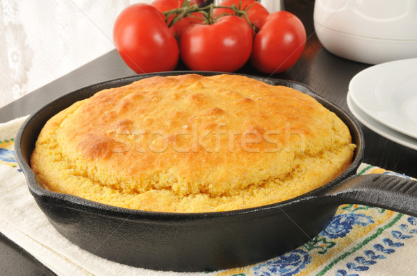 Cornbread in a cast iron skillet Stock photo © MSPhotographic