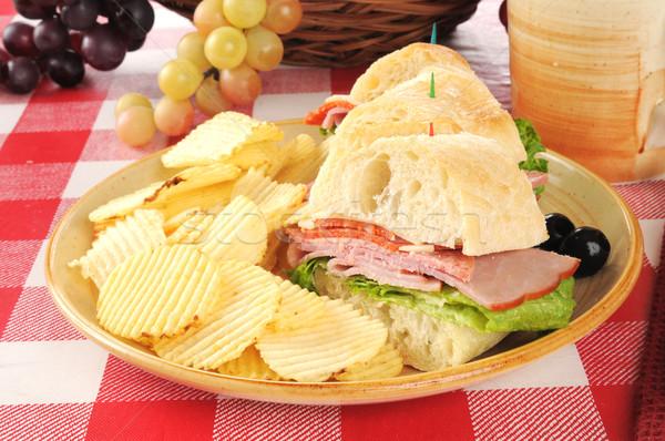Italiaans onderzeeër sandwich brood drinken Stockfoto © MSPhotographic