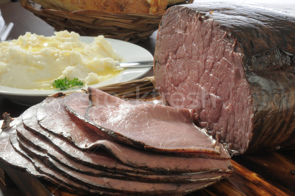 Roast beef and potatoes Stock photo © MSPhotographic