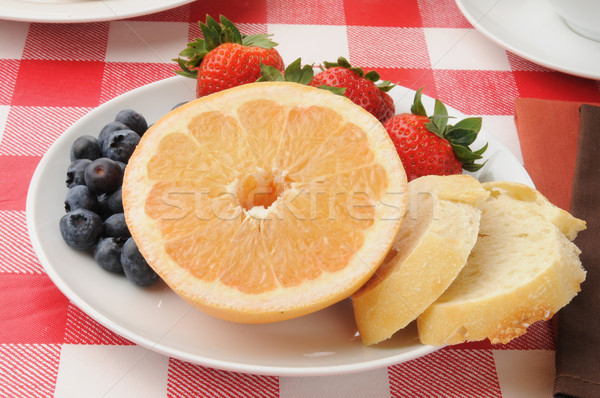 Fruit, berries and toast Stock photo © MSPhotographic