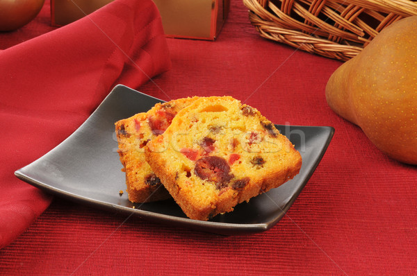 Christmas fruitcake traditioneel peer cake kers Stockfoto © MSPhotographic