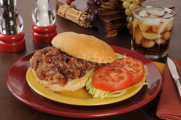Pulled pork sandwich Stock photo © MSPhotographic