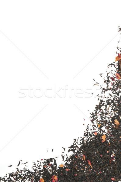 Rose infused black tea background Stock photo © MSPhotographic