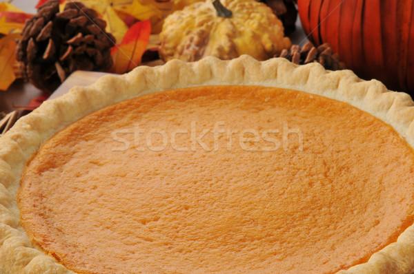 Stockfoto: Pompoen · taart · zoete · aardappel · vakantie · tabel
