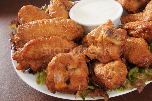 Chicken wings closeup Stock photo © MSPhotographic